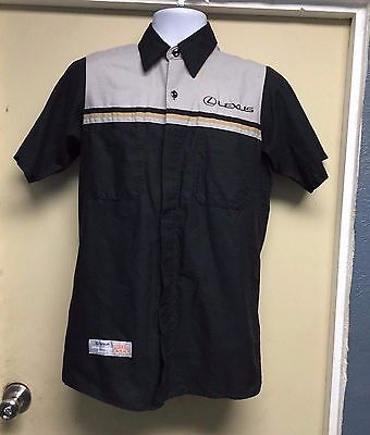 Lexus Mechanic Short Sleeve Shirt Black/Gray Red Kap