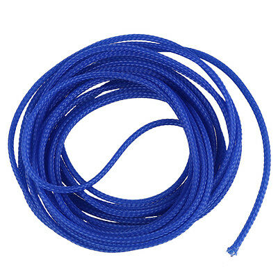 5M Expanding Braided ble Wire Sheathing Sleeving Harness Blue