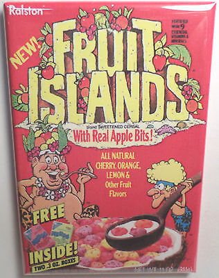 "Fruit Islands Vintage Cereal Box 2"" x 3"" Refrigerator or Locker MAGNET"