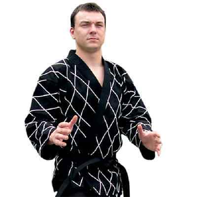 Elite Diamondback Hapkido Uniform Gi Top - Black