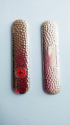 Replacement Scales Stainless Steel Swiss Army Pocket Knife Wenger Esquire # S3