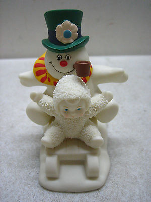 Dept 56 Snowbabies Fun With Frosty The Snowman Figurine