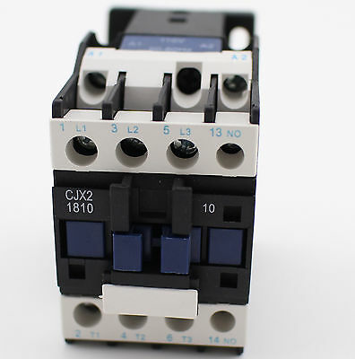 CJX2-1810 3 Pole 35mm DIN Rail Mount AC Contactor One NO AC110V Coil 32A