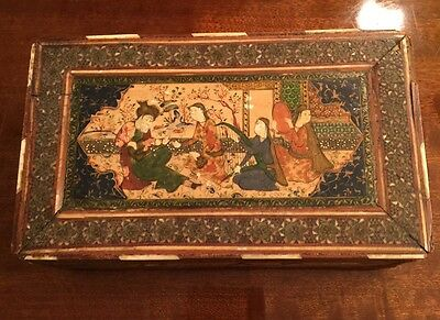 Antique Timuride Or Safavid Khatam And Miniature Box.