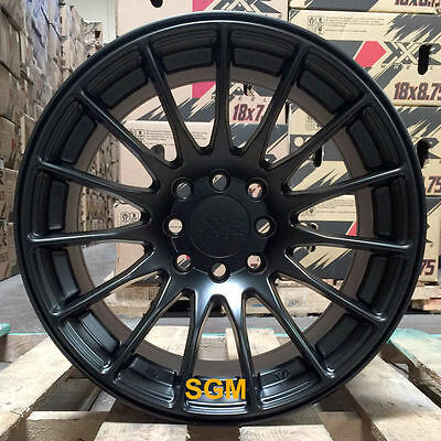 XXR 550 Flat Black 15 x 8 +21 Rims Wheels Concave 4x100 Stance 02 Honda Civic SI