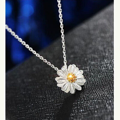 Silver Plated Flower Necklace Clavicle Chain Necklaces Daisy Pendant Charms r