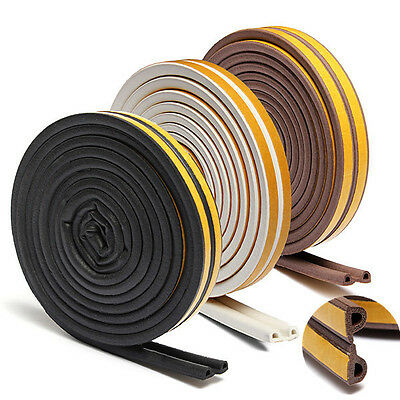 5M Weatherbar Draught Window Self Adhesive P Type Seal Strip Rubber Roll