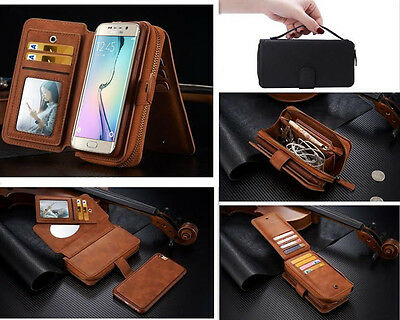 For Samsung Galaxy S8 Plus S7 Edge S6 Note S5 Leather Flip Wallet Case Cover