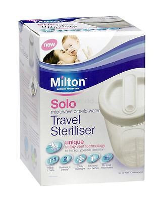 Milton Solo Travel Steriliser White - 2 Pack