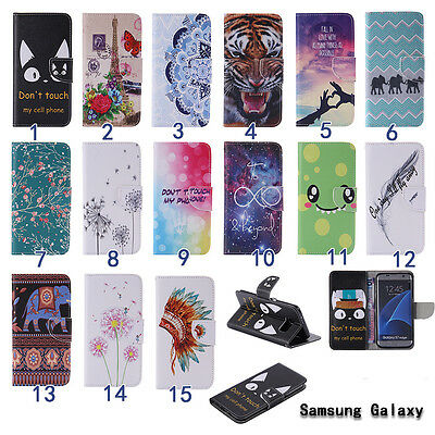 For Samsung Galaxy Leather Wallet Case Cover Card Slot Dream Stand Magnetic Flip