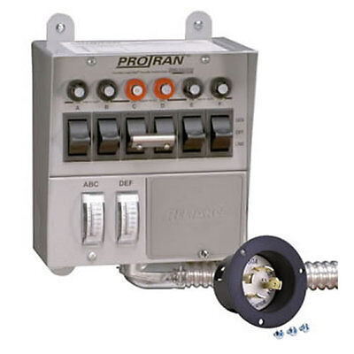 Reliance Controls 30-Amp (120/240V 6-Circuit) Indoor Transfer Switch