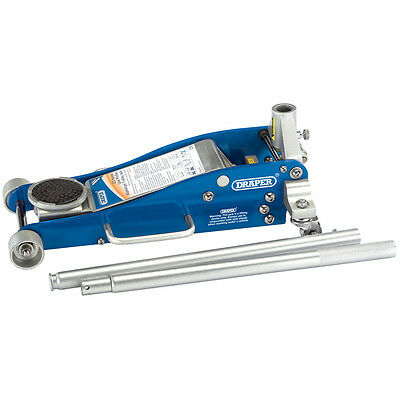 Draper 2.5 Tonne Aluminium/steel Trolley Jack With 'quick Lift' Facility 31479