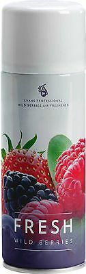 EVANS FRESH - Wild Berry Dry Formulation Air Freshener Aerosol (400ml) (x6)