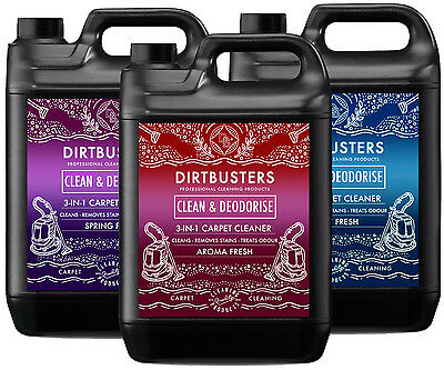 Carpet cleaning solution shampoo odour deodoriser Upholstery Cleaner 3 x 5L vax