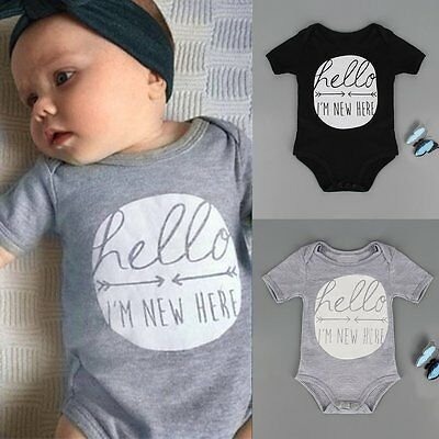 Newborn Toddler Kids Baby Boy Girl Romper Jumpsuit Bodysuit Clothes Outfits 0-2Y