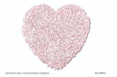 """The Rug Market Shaggy Raggy Heart Pink Area Rug  Size 3'x3' HEART 3 by 3"""""""