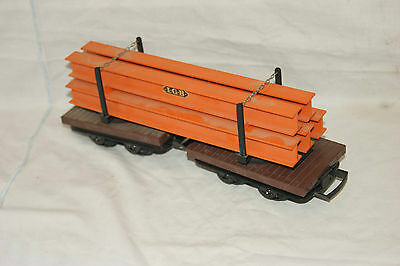 G gauge 45mm GOOD/EXCELLENT LGB Feldbahn Twin Flat Wagon with Girder Load