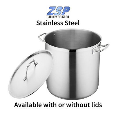 Stainless Steel Commercial Boiling pans available with or without lids