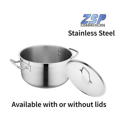ZSP Stainless Steel Commercial Catering Casserole Pans - with or without lids