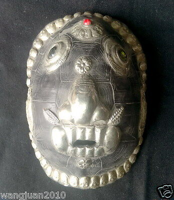 Collect Tibet Temple Old Passport Mask, Halloween Black Grimace Wry Face Mask