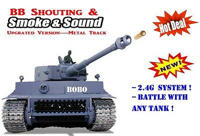 Radio Remote Control Rc German Tiger Tank 2.4G --- Pro and Upgraded