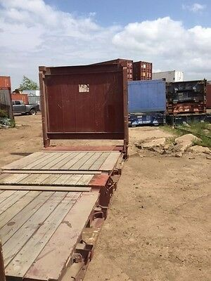 20' Flat Rack Container collapsible flush fold end walls