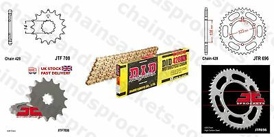 DID- All Gold Heavy Duty Chain Kit 428HDGG 126 fits Cagiva 75 Cocis 91