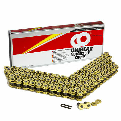 520 Gold Heavy Duty Motorcycle Chain 114 Links with 1 Connecting Link