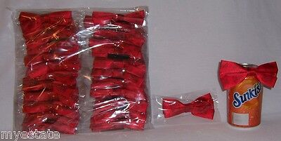 "New Lot of 48 Tanqueray Patterned RED 4"" Bottle BOW TIE / CRAFT CRAFTING TIES"