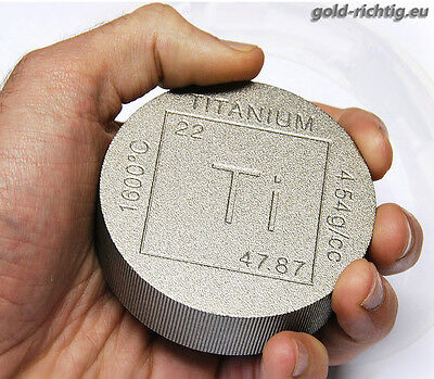 "1 lb Pound Titanbarren ""Element"" (16 oz Unzen avdp Unze Titan Barren Münze) RAR*"