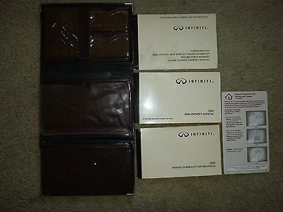 2000 Infiniti QX4 Owner's Manual & Supplements Set in Storage Case