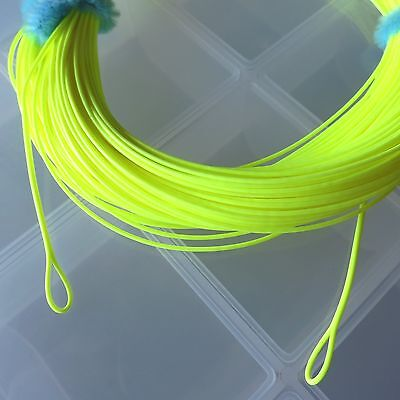 """.035"""" RUNNING LINE Spey Switch w/ LOOPS 100' for 400-550gr heads 6/7/8wt YELLOW"""