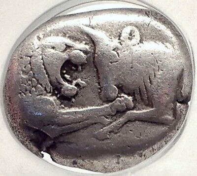 KINGDOM of LYDIA:CROESUS 556BC Silver Stater Double Siglos Greek Coin NGC