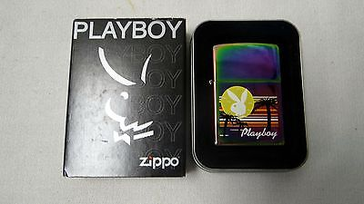 Rare 2005 Zippo Playboy Palm Tree Sunset Lighter W/ Original Box
