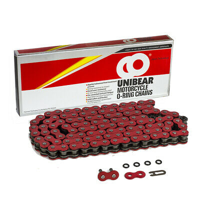 520 Red Motorcycle O-Ring Chain 114 Links with 1 Connecting Link