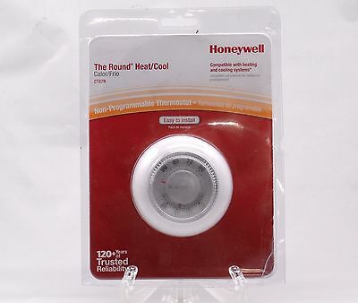 Honeywell The Round HEAT and COOL Thermostat CT87N Non Programmable White