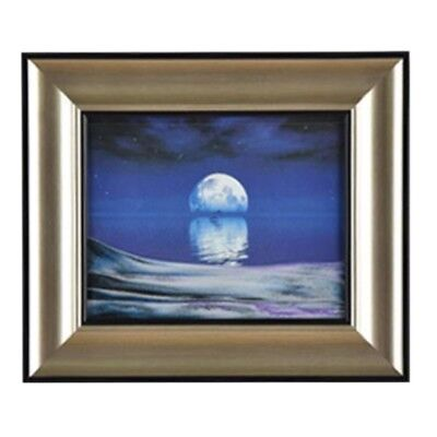 3D Artisitc Moving Sand Glass Art Picture Frame Wall Hanging    moon in water