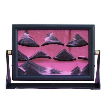 3D Moving Sand Glass Art Picture Frame Home Desk Decor Craft