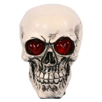 Tricky Toys Resin Glittery Skull Statue Human Skeleton Halloween    bareheaded