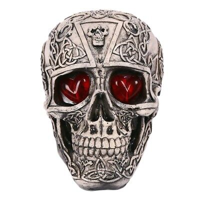 Tricky Toys Resin Glittery Skull Statue Human Skeleton Halloween   single skull