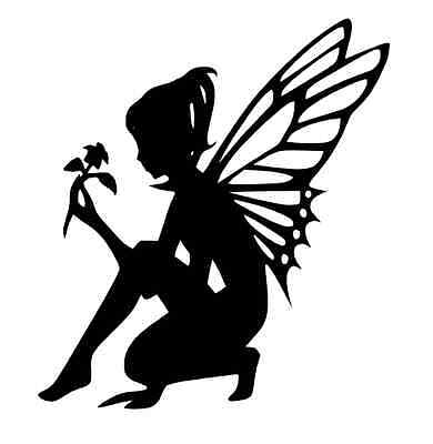 8-12 FLOWER FAIRY SILHOUETTE Die cut Embellishment Crafts, Scrapbook, Cards