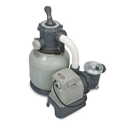 Intex Krystal Clear Sand Filter Pump for Above Ground Pools, 1600 GPH Pump Flow