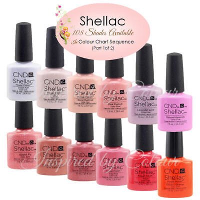 CND SHELLAC UV COLOR COAT ~ Shades shown in Colour Chart sequence ~Part 2 (of 2)