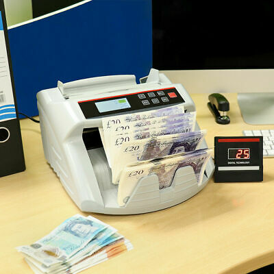 BANK NOTE CURRENCY COUNTER COUNT DETECTOR MONEY FAST BANKNOTE CASH MACHINE Wido