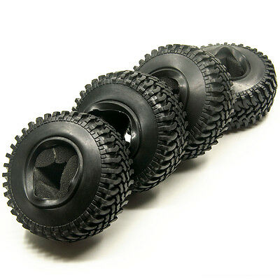 """RC 1/10 Scale Rock crawler 1.9"""" beadlocks 100mm Tyres For SCX10 RC4WD"""