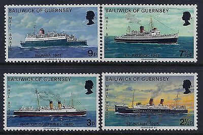 1973 Guernsey Mail Boats Part 2 Set Of 4 Fine Mint Mnh/muh