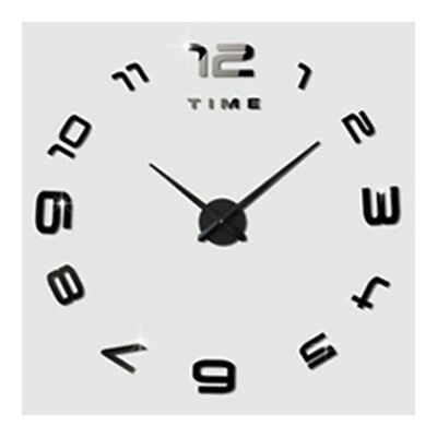 Living Room Silent Wall Clock Super Large Size Acrylic DIY Simple   black