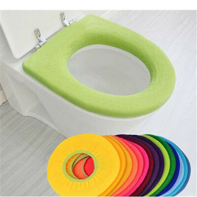 Hot WC Cloth Soft Toilet Washable Bathroom Warmer Seat Lid Top Cover Pads Mats