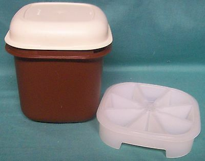 Tupperware mini 3 piece ice bucket - brown