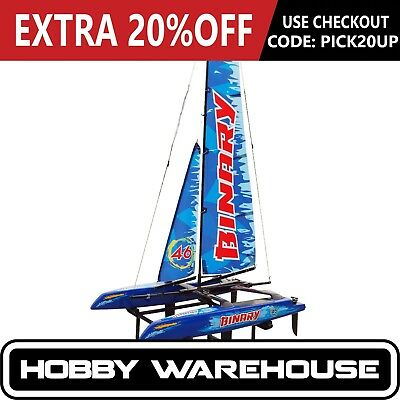 Joysway 8807B Binary Blue 2.4Ghz Mini Catamaran RTR RC Yacht
